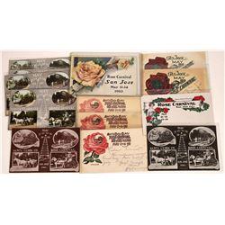 San Jose, California, Rose Carnival Postcards ~ 2 B 7 Chromo; 3 Color  [129386]