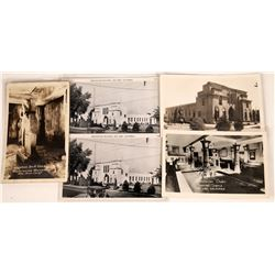 San Jose, California's Rosicrucian Park Postcards ~ 5 B&W   [129384]
