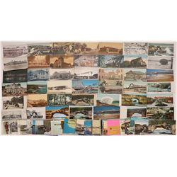 Santa Cruz Beaches & Boardwalk RPC's & Postcards (80)  [128925]