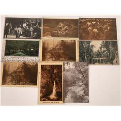 Skaggs Hot Springs, California Postcards - 9 B&W  [129366]