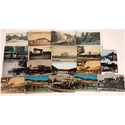 Sonoma County Railroad RPC's & Cards (18)  [127697]