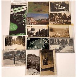 Tuolumne Co., California Postcards and Road Map - 14 pcs  [129032]