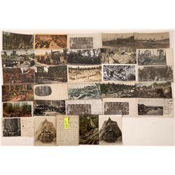 Redwood Logging Turn of the Century Postcards  [122401]