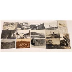 Logging Postcards: Fort Bragg,  Placerville, Merced Falls Calif  [122390]