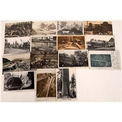 Calif. Logging Post cards  [122391]