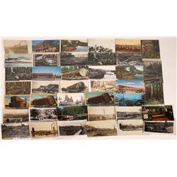 Logging in the Northwest Postcards  [122398]