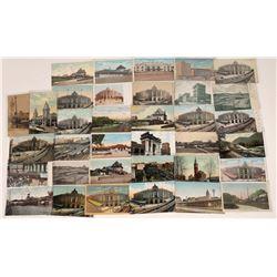 Massachusetts Railroad Scene  Postcards (35)  [128994]