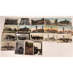 Oregon RR Stations and Scenic View Postcards - 11 color; 9 B&W  [126897]