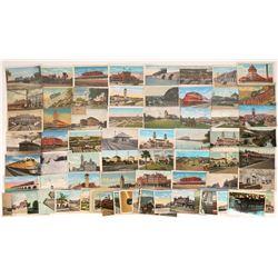 Eastern & Southern RR Scene Postcards (80)  [128942]