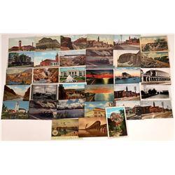 Western Railroad Scenic Postcards (34)  [128934]