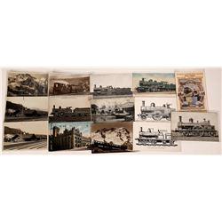 Foreign Railroad Scene Postcards (14)  [128939]
