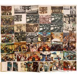 Railroad Car Interiors Postcards - 43 Color; 20 B&W  [129009]