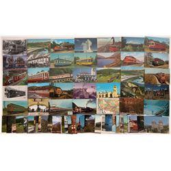 Railroad Color Postcards (75)  [128944]