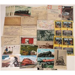 Railroad Express and RR Postcards and Ephemera - 44 + 13  [129000]