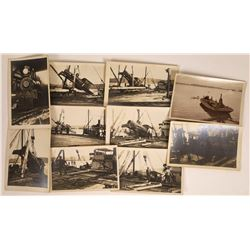 Postcards of Loading Train Engine onto Mandalay Ferry Plus Lima Engine #6 (c. 1910)  [128858]