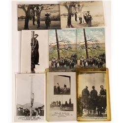 Death by Hanging Postcards ~ 2 color; 1 B&W, 4 RPCs  [129018]