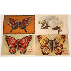 Colorful Butterfly Postcards, Two with Moveable Pinwheel (4)  [118792]