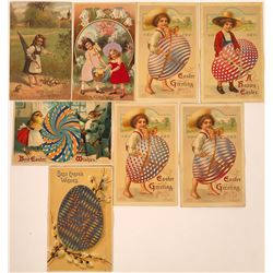 Easter Postcards Including Six With Moveable Pinwheel (8)  [118798]