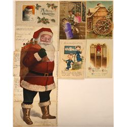 Fancy Christmas Postcards Including Three With Moveable Pinwheel (9)  [118801]