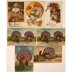 Fancy Thanksgiving Postcards Including Four with Moveable Pinwheel (7)  [118799]