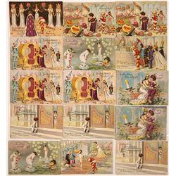 Tuck's Valentine's Greetings Postcards (16)  [118797]
