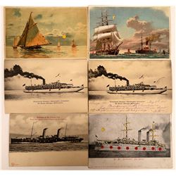 Hold to the Light- Sailing Ships Postcards (6)  [118796]