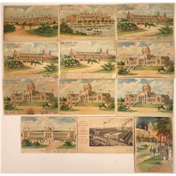 Hold to the Light- St. Louis World's Fair 1904 Postcards (12)  [118809]