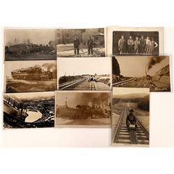 Postcards Showing Various Railroad Scenes (9)  [128938]
