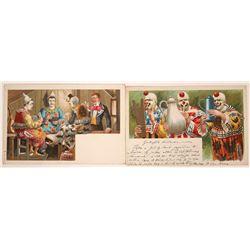 Rare Clown Postcards (2)  [118804]