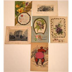 Silk Postcards (6)  [118803]