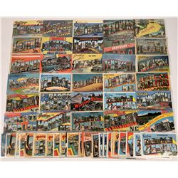 US East-Central  Large-Letter Postcards ~ 71 pcs  [129402]