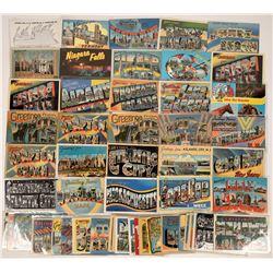 US Eastern Seaboard Large-Letter Postcards ~ 64 pcs  [129399]