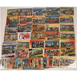 US South and Mid-West Large-Letter Postcards ~ 79 pcs  [129400]