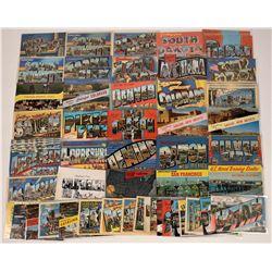 US Western States Large-Letter Postcards ~ 56 pcs  [129401]