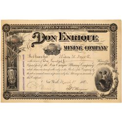 Don Enrique Mining Company Stock Certificate, Chihuahua 1888  [128809]