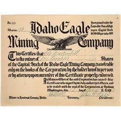 Idaho Eagle Mining Company Stock Certificate, 1910  [128807]
