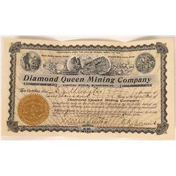 Diamond Queen Mining Co Stock, Bullfrog, Nevada- 1908  [128883]