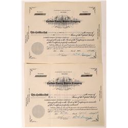 Carbon-Emery Stores Company Stock Certificates  [128454]