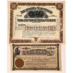 Two Searchlight, Nevada Mining Stocks  [128834]