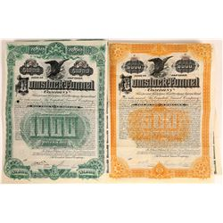 Comstock Tunnel Company Bonds Signed by Theodore Sutro  [113960]