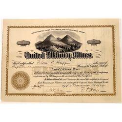 United Elkhorn Mines Stock, Oregon, 1904  [128810]
