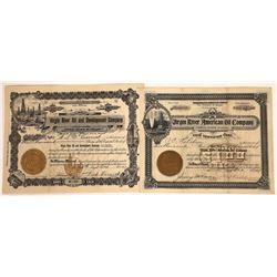 Two Virgin River, Arizona Oil Stocks, 1907-08  [128777]