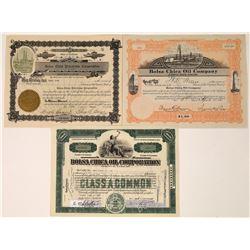 Three Bolsa Chica (Huntington Beach) Oil Stock Certificates  [128691]