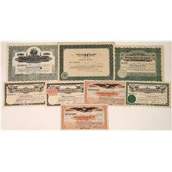Huntington Oil District Stock Certificates (7)  [128690]