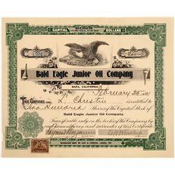 Bald Eagle Junior Oil Stock, Napa, California, 1901  [128663]