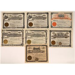 Salinas, California Oil Stock Certificates (7)  [128681]