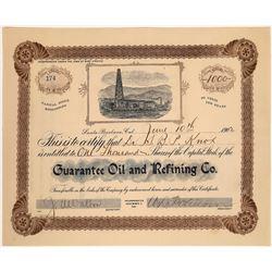 Rare Santa Barbara Issued California Oil Stock, 1902  [128779]