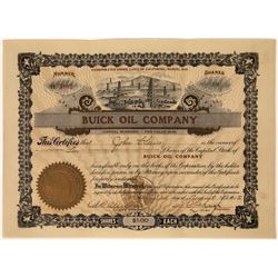 Buick Oil Company Stock Certificate  [128692]