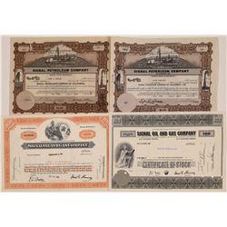 Signal Petroleum Stocks Certificate Group (4)  [128669]