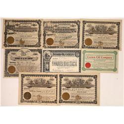 U.S. Unidentified Oil Stocks 1910-1915, Mostly California? (8)  [128755]
